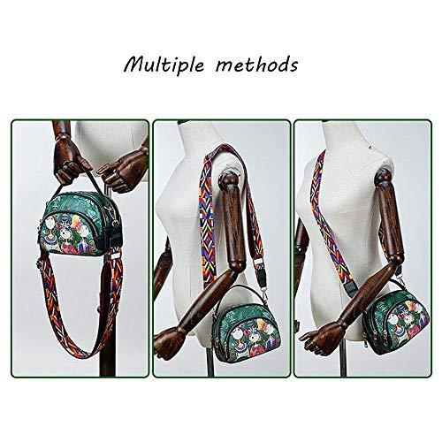 Verde Bolsa Tamaño color Serie Mini Bolsa Coreano layer Moontang De Hombro Crossbody Bosque Bandolera Lindo Ancho Multi 6xCOwTCHq