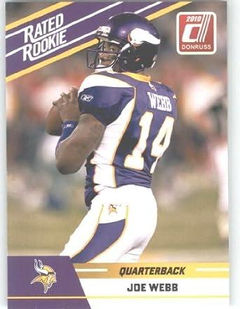 Discount 2010 Donruss Rated Rookies #55 Joe Webb Minnesota Vikings (RC Rookie  hot sale