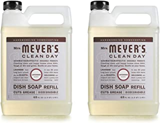 product image for Mrs. Meyer's Liquid Dish Soap Refill, Lavender, 48 OZ each, pack of 2