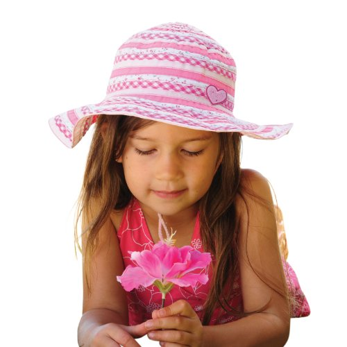 millymook-girls-cotton-sun-hat-sweetheart-pink-upf50-2-5-year-olds