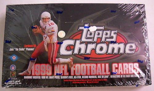 1999 TOPPS CHROME FOOTBALL FACTORY SEALED HOBBY (1999 Topps Chrome Football)