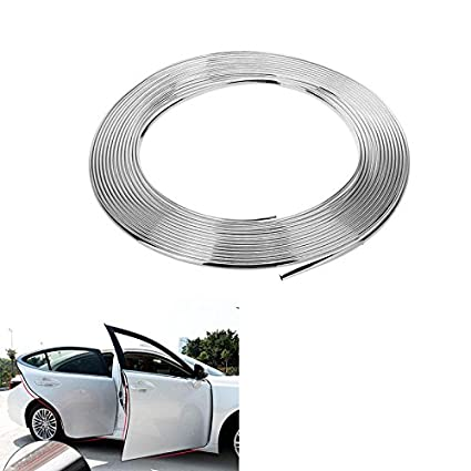 x 30 m color plateado cromado 20 mm 2 cm Tira de moldeo autoadhesiva para coche