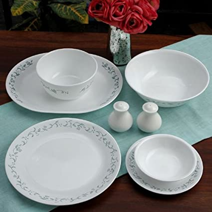 Corelle Essential Country Cottage Round Dinner Set, 21-Pieces