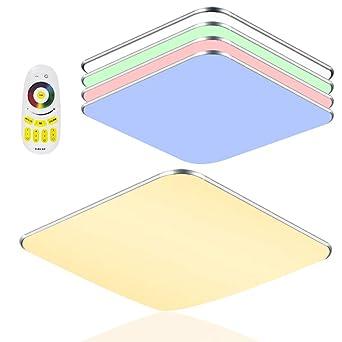 36W LED Dimmbar Deckenleuchte Schlafzimmer Deckenlampe Arbeitszimmer Küche RGB