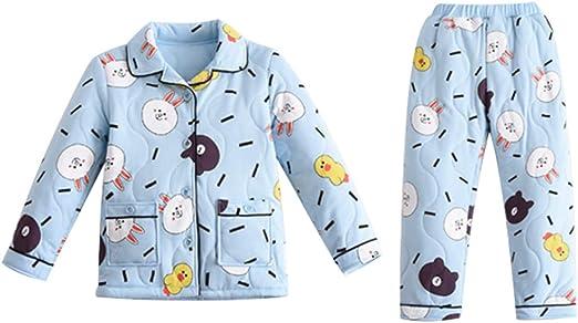 Camisones Pijama Pijamas de Invierno para niños Algodón Acolchado ...