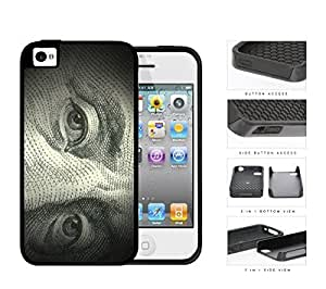 Benjamin Franklin 100 Dollar Bill 2-Piece Dual Layer High Impact Hard Silicone Cell Diy For Touch 5 Case Cover