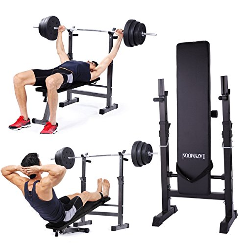 JAXPETY Adjustable Folding Weight Lifting Flat Incline Bench Fitness Workout New