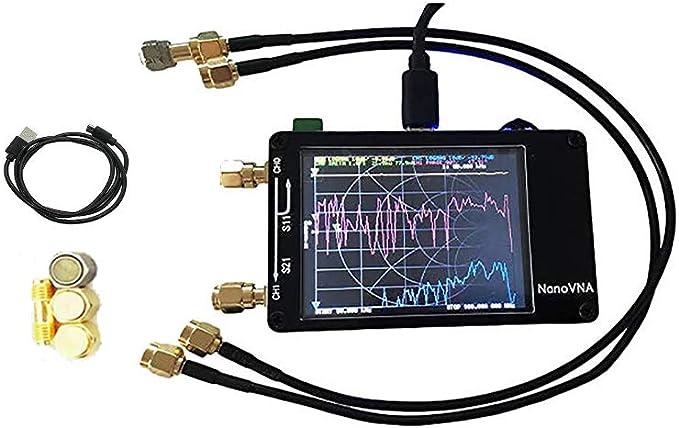 Analizador de la antena del analizador de la red del vector 50Khz-900Mhz 2.8 batería del LCD, medición del voltaje del S-parámetro relación de onda ...