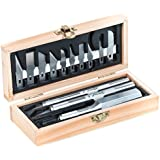 Excel Blades Craftsman Hobby Knife Set, American Made Craft Knife Kit with 13 Assorted Blades (Wooden Chest)