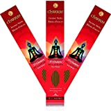 7 Chakras - 1 Muladhara - Root - Grounding - Primary Aromas Patchouli & Vetiver - 11 inch - 60 Minutes - 3x 20-pack - 100% Natural Hand Dipped Incense Sticks