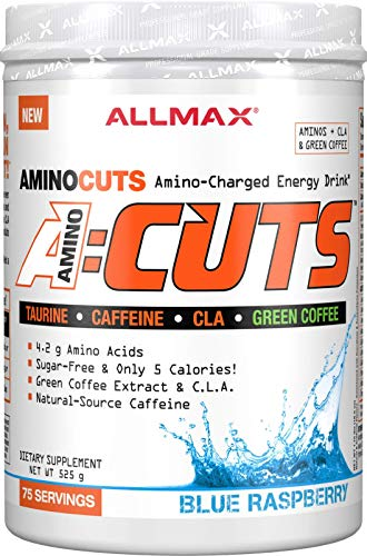 ALLMAX Nutrition A:CUTS, Amino Charged Energy Drink, Blue Raspberry, 525g