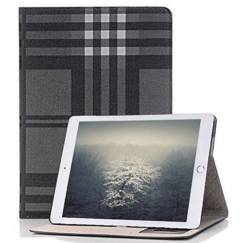 Price comparison product image Hulorry Mini 4 iPad Smart Case,  Fashion Lattice Ultra Slim Lightweight Case Smart Folio Stand Hard Cover [No Slip Surface] for iPad Mini 4 7.9 inch