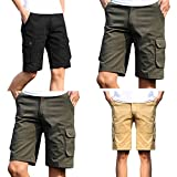 WEUIE Hot Sale Fashion Mens Casual Pocket Beach Work Casual Short Trouser Shorts Pants(38,Black)
