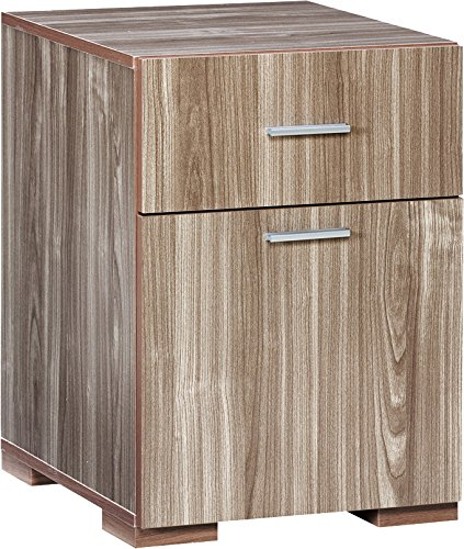 Comfort Products Modern 2 Drawer Lateral File Cabinet, Walnut