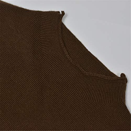 Chaud Haut Core Chandail Col Shirloy Broderie Yarn Noir Grand Lettre Femme Knit Doux Lettre Haut Bottoming Demi 6xBqXd