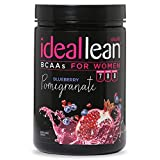 IdealLean, BCAAs For Women, Blueberry Pomegranate - Build Lean Muscle Now with Branched Chain Amino Acid; Burn Fat with IdealLean's Fat Loss Blend; 0 Carbs, Sugars, and Calories, 30 Servings