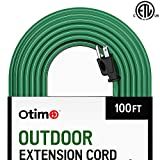 weather resistant electric heater - Otimo 100 ft 16/3 Outdoor Heavy Duty Extension Cord - 3 Prong Extension Cord, Green