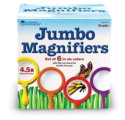 Learning Resources Jumbo Magnifiers, Set of 6