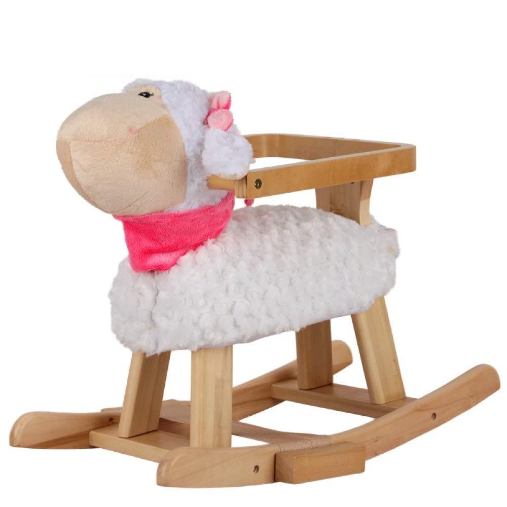 木馬ロッキング 子供の木馬ロッキングホース純木音楽赤ちゃんのおもちゃロッキングチェアギフト1-4歳 ロッキングホース (色 : B)  B B07RWG8B64