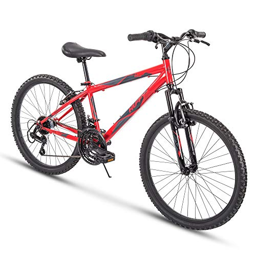 Huffy Hardtail Mountain Bike, Summit Ridge 24-26 inch 21-Speed, Lightweight (Renewed)