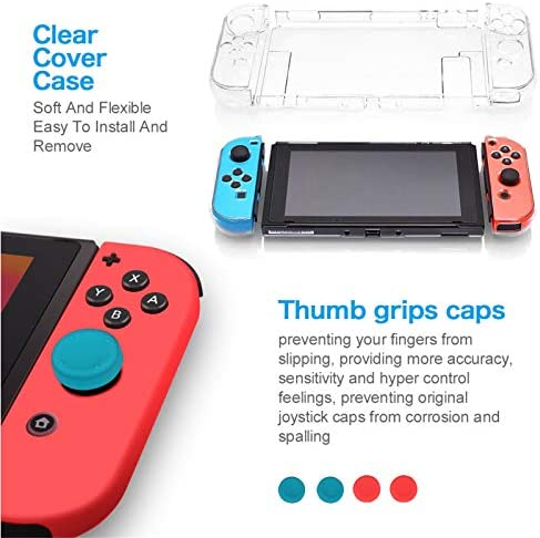 """Newest Nintendo Switch 32GB Console with Gray Joy-Con, 6.2"""" Touchscreen 1280x720 LCD Display, 802.11AC WiFi, Bluetooth 4.1, HDMI, Bundled with TSBEAU 9 in 1 Carrying Case Accessories"""