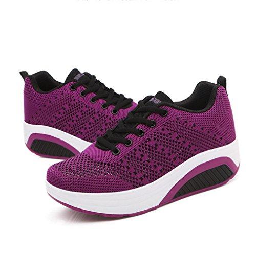 LFEU Sport Voyage Violet Légère Mode Femme Basket de Textile Fashion orthoptique Chaussure Sneakers qZSBwA