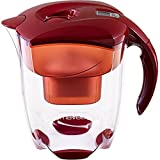 MAVEA 1005722 Elemaris XL 9-Cup Water Filtration Pitcher, Ruby Red