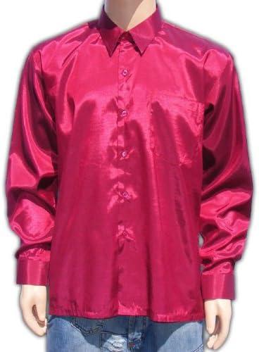 Bestellmich / Hemden (XXL) Vino Rojo Rojo Camisa Señor satén ...