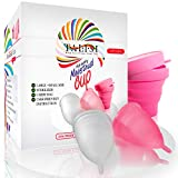 Talisi Reusable Menstrual Cups Set of 2 with