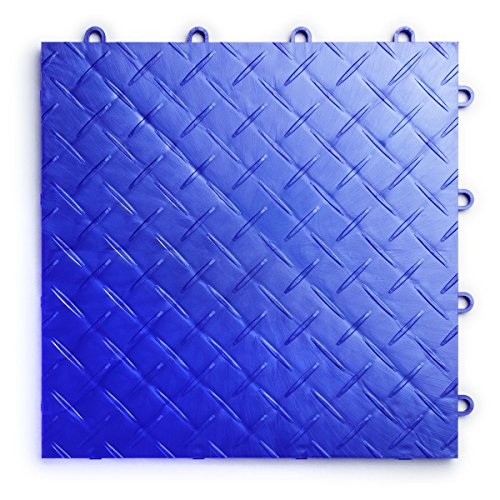 - RaceDeck Diamond Plate Design, Durable Interlocking Modular Garage Flooring Tile (24 Pack), Royal Blue