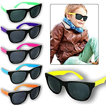 Toy Cubby Wayfarer Style Sunglasses Classic Toddler Kids Party Favors - 12  Pieces 4.5 25ca4a8979