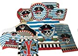 Pirate Party Supplies Super Set (18 ct Plates, (2) 20ct Napkins, 12ct pirate ...