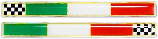 4r Quattroerre It 14080 3d Aufkleber Slim Italien Schachbrett Flagge Auto