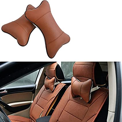 Zhhlaixing 1 Pair Car Head Neck Rest Cushion Prevents The Pain And Stiffness