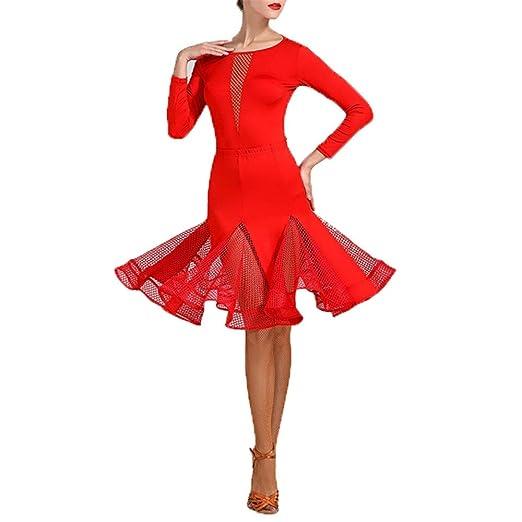 Falda De Danza Del Vientre Traje de baile latino de manga larga ...