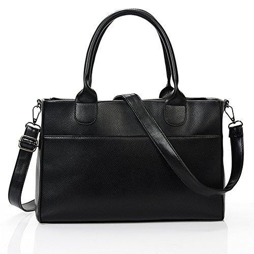 Jvps 93-k Pu 2018 New Brown Leather Handbag Fashionable Women Shoulder Bag Shoulder Bag Business Traveler Travel High Capacity Black Water-proof