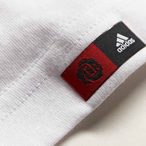 Herren T-shirt Adidas Derrick Rose Logo Climalite Weiß
