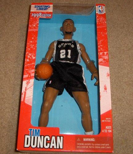 ティム ダンカン スパーズ  1998 12 Inch Fully Poseable NBA Starting Lineup - Figures Nba 12 Inch