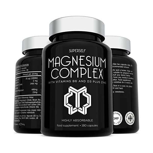 Magnesium-Citrate-Supplement-with-Zinc-Vitamin-D-B6-High-Strength-180-Capsules-1466mg-Magnesium-Supplements-for-Women-Men-Magnesium-Complex-Tablets-Providing-440mg-Elemental-Magnesium