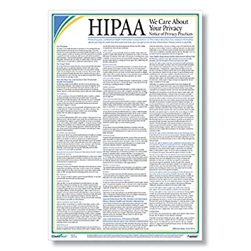 Amazon.com : ComplyRight HIPAA Notice of Privacy Practices Poster ...