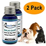 WALK-EASY Hip and Joint Pain Relief Supplement for Dogs and Cats; Advanced Anti-inflammatory Homeopathic Formula Relieves Your Pet's Arthritis Pain - All Natural Joint Care and Knee Support - 2 Pack