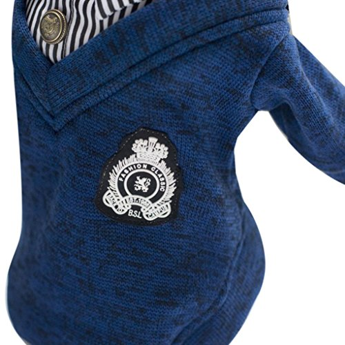 [Dog Clothes,Laimeng, Fashion Warm Winter Pet Dog Puppy Clothes Coat Apparel Costume (XL, Blue)] (Pirate Coat For Sale)