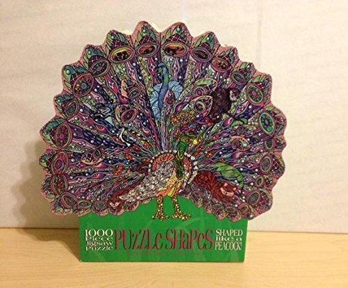 1000 Piece Shaped Jigsaw Puzzle - Shaped Like a Peacock
