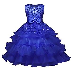 Amazon.com: Voberry- Vestido de princesa floral con lazo ...