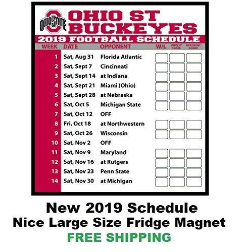 Amazon Com 2019 Ncaa Ohio State Buckeyes Football Schedule