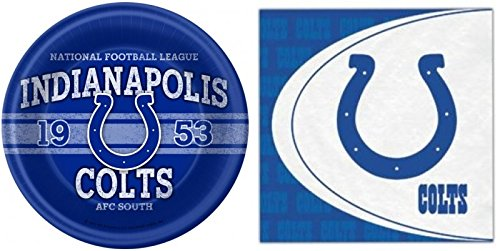 NFL Indianapolis Colts Dinner Plates & Napkins Party Kit for 8