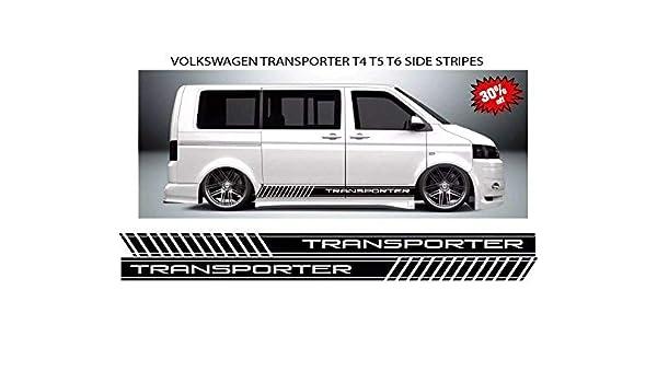 Lado Pegatinas para Volkswagen Transporter/Transporter, Rayas, T4/T5/T6 Caddy: Amazon.es: Coche y moto