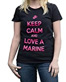 Keep Calm Marine T-Shirt - 2XL - Black