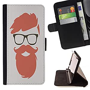 King Case - FOR Apple Iphone 5 / 5S - Youth means limitless possibilities - Prima caja de la PU billetera de cuero con ranuras para tarjetas, efectivo Compartimiento desmontable y correa para la mu?eca