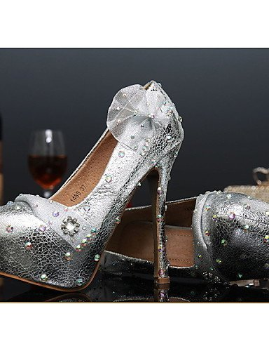 ShangYi Damen - High Hochzeitsschuhe - Absätze - High - Heels - Hochzeit / Party & Festivität - Silber  5in & over 1fe97a